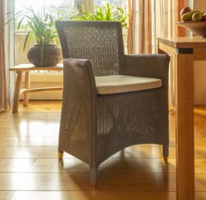 Lloyd loom Sessel 3504 Farbe Taupe