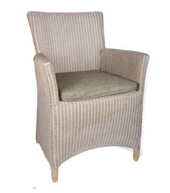 Lloyd loom Sessel 3504 White wash
