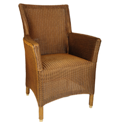 Lloyd loom Sessel Paris Karamell