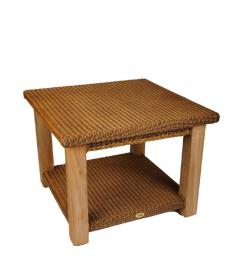 Lloyd loom Tisch Celine kwardraat