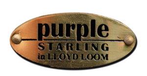 Logo Lloyd loom Purple Starling