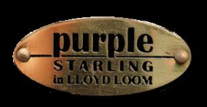 Logo Lloyd loom Purple Starling